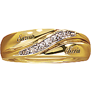 men s diamond name wedding band