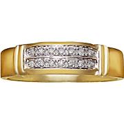 men s diamond 10k double row ring