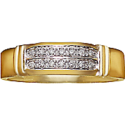 men s diamond 10k double row ring