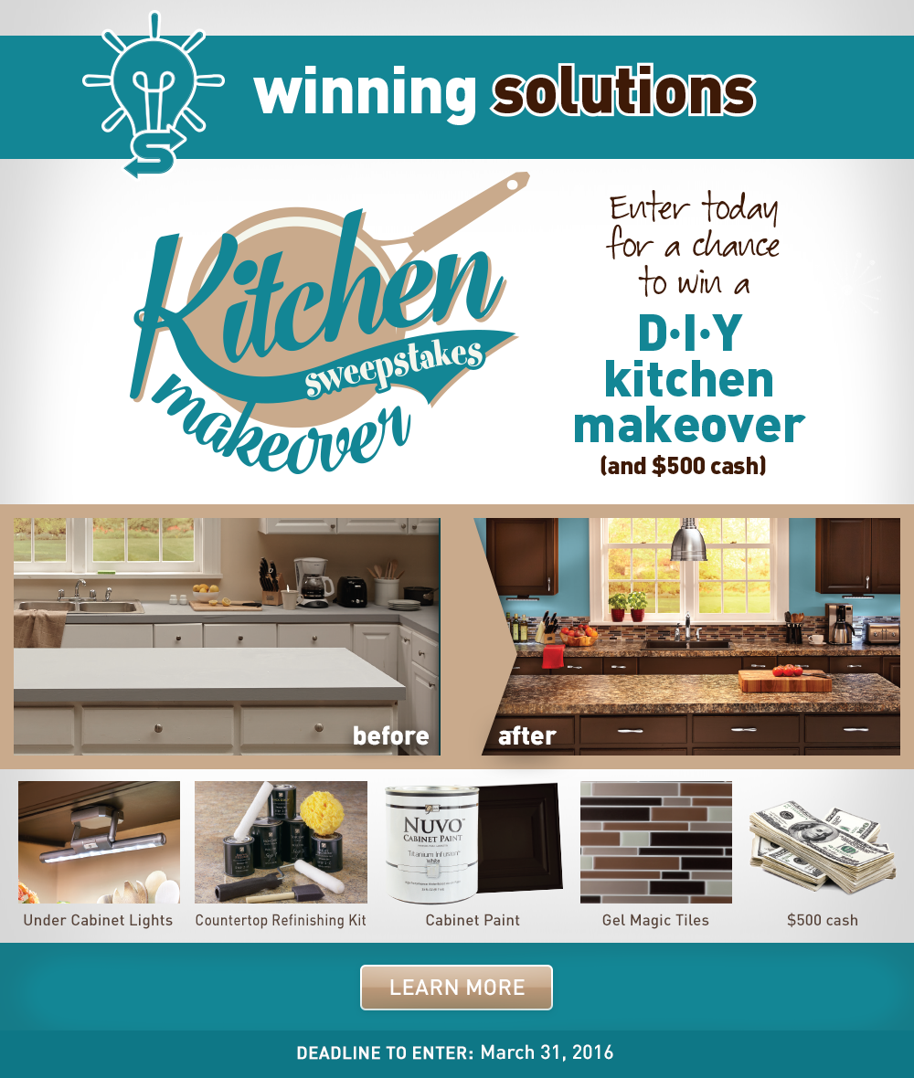 Enter to win the Kitchen Makeover Sweepstakes