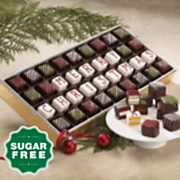 Sugar-Free 'Merry Christmas' Petits Fours
