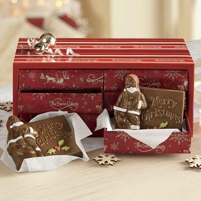 Chocolate Santa Cards Gift Samplers