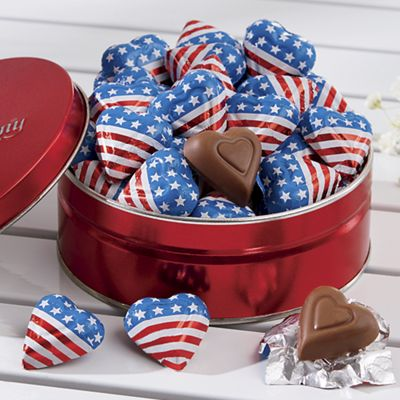 Mini Flag Hearts Tin