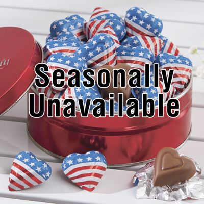 Mini Flag Hearts Tin