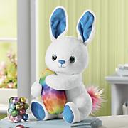 Plush Bunny with Chocolate Eggs