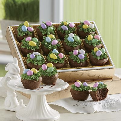 Easter Nest Brownie Puffs