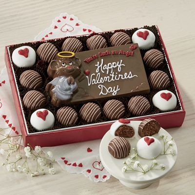 Chocolate Valentine Card with Truffles