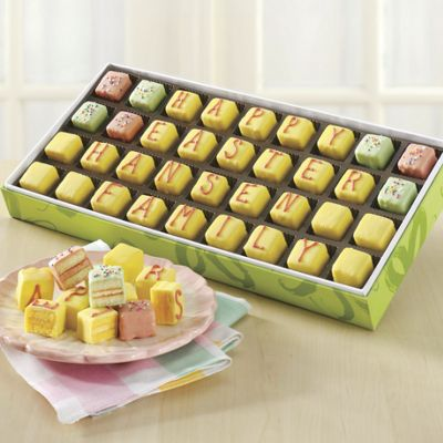 Personalized Mini Easter Petits Fours