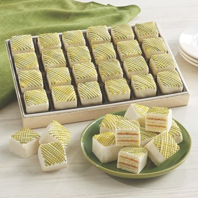 Green and Gold Cake Bites