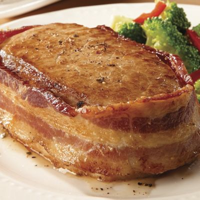 Bacon-Wrapped Pork Loin Chops