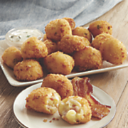 bacon mac   cheese fritters