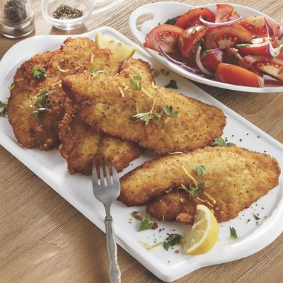 Lemon-Breaded Tilapia Fillets