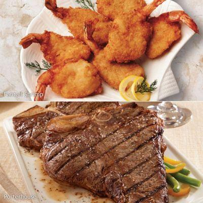 Porterhouse and Shrimp Special