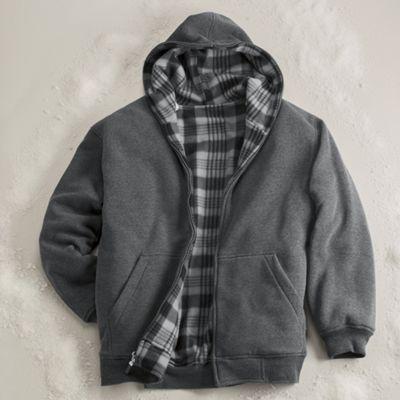 Men's Reversible Hooded Fleece Jacket