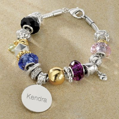 Personalized Two-Tone Charm Bracelet