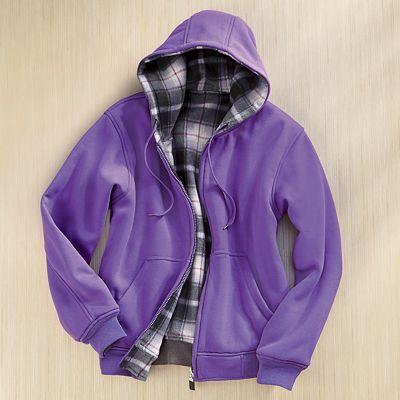 Fleece Reversible Hoodie
