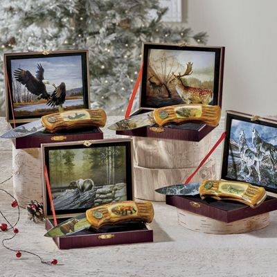 Personalized Wildlife Collector's Knives