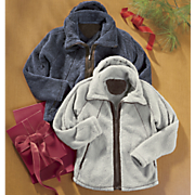 Fuzzy Fleece Hooded Jacket
