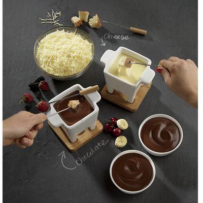 Fondue Set, Chocolate Fondue and Swiss Fondue Blend