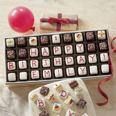Personalized Mini Birthday Petits Fours
