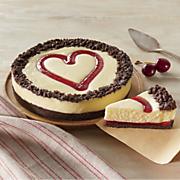 Cherry Heart Cheesecake