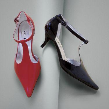Patent T-Strap Kitten Heel