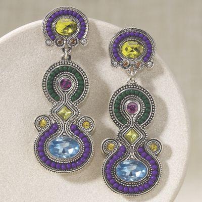 Crystal Beaded Art Deco Earrings