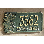 Personalized Oak Address Signs
