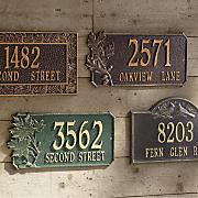 Personalized Oak Leaf Address Signs
