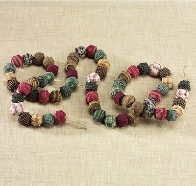 Rag Ball Garland From Through The Country Door Nc39951