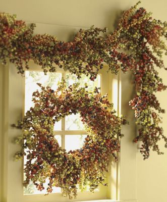 Harvest Berry Wreath and Garland