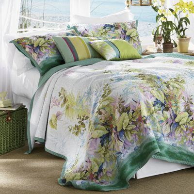 Paradise Island Oversized Quilt, Sham and Pillows