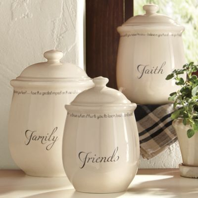 Set of 3 inspirations canisters from country door ni40424 for Hearth and home designs canister set