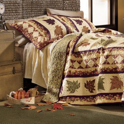 September Dance Oversized Reversible Quilt and Sham