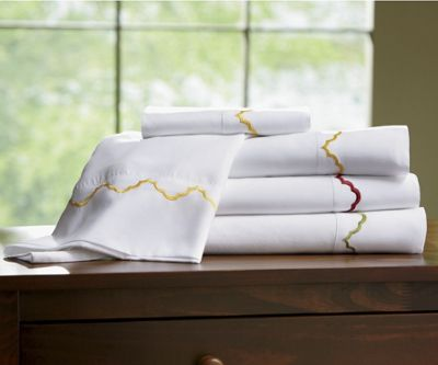 Embroidered Scallop Sheets