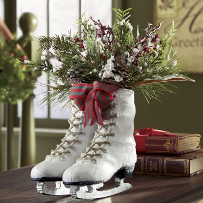 Ice Skates Centerpiece From Country Door Nc41659