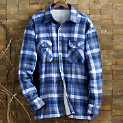 Royal Blue Buffalo Plaid Shirt