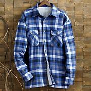 Royal Blue Buffalo Plaid Shirt