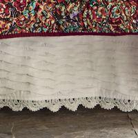 Pleated Crocheted Bedskirt