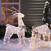 Animated Buck And Doe Lawn Ornaments