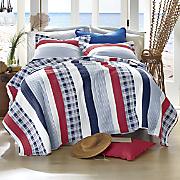 nautical stripe oversized quilt