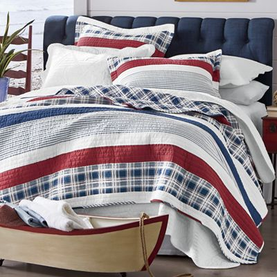 Nautical Stripe Oversized Quilt and Sham