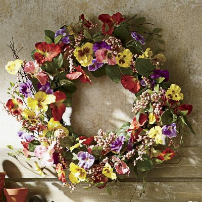 Pansy Berry Wreath From Country Door Nd43068