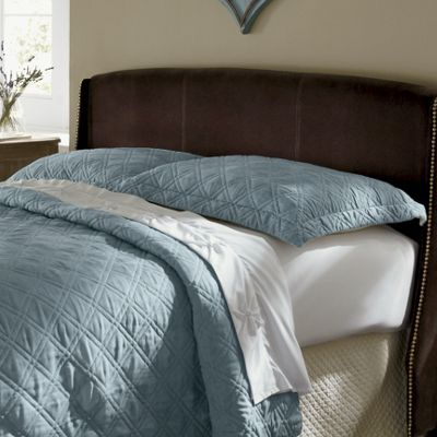 Scroll Stitched Oversized Quilt & Sham