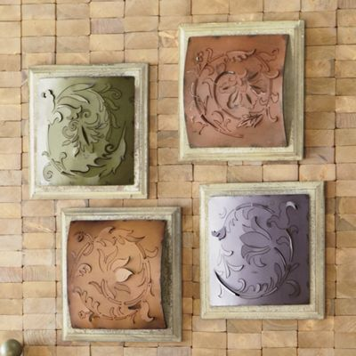 & Set of 4 Wall Tiles from Through the Country Door | 44125 Pezcame.Com