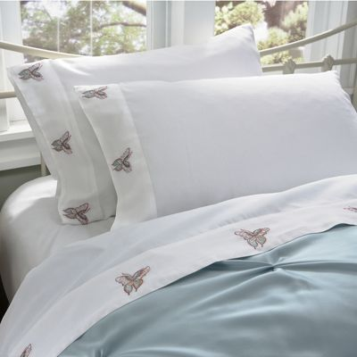 Butterfly Embroidered Sheet Set