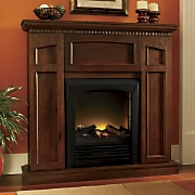 Convertible Electric Fireplace With Storage