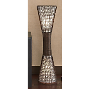 Floor lamps stained glass tall seventh avenue floor lamp woven wicker mozeypictures Gallery