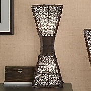 Table Lamp Woven Wicker