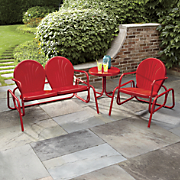 Tulip Glider Chairs & Table